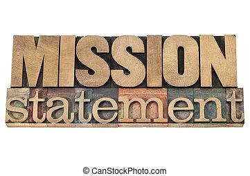 drewno, typ, misja, deklaracja