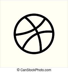 Dribbble social media logo and icon
