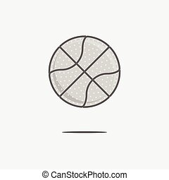 Dribbling Basketball Ball Logo