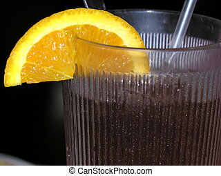 dricka, med, citron