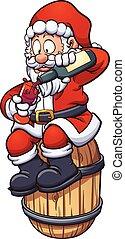 drickande, jultomten, vin