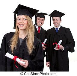 drie, afgestudeerdeen