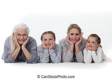 drie generaties, van, women.