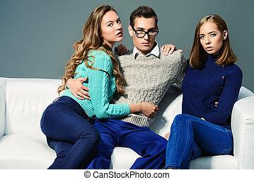drie mensen