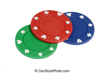 drie, pokerchips