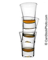 drie, schoten, van, whisky