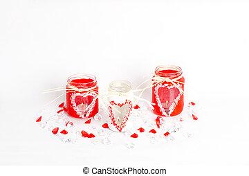 drie, valentine, candlesticks