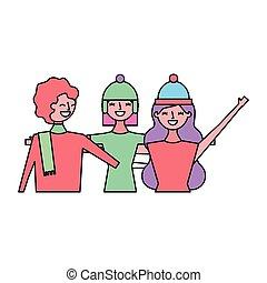 drie vrouwen, het koesteren, vrienden
