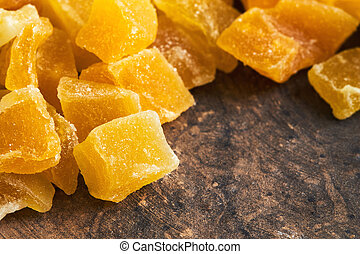 Dried and candied mango