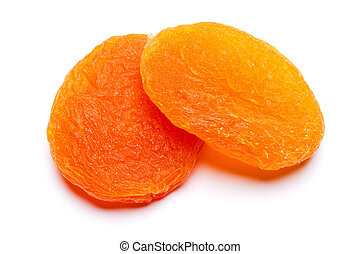 Dried apricot close-up isolated on a white background. clipping path