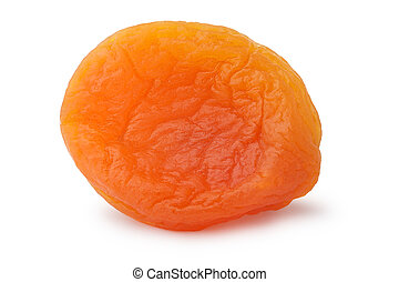 Dried apricot isolated