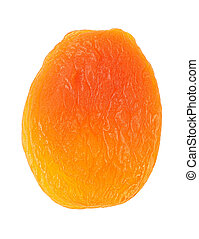 Dried apricot isolated on a white background