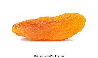 Dried apricot isolated on white background. Healthy food.