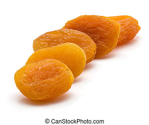 Dried apricot isolated on white