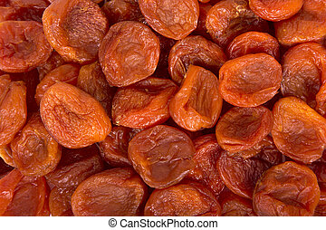 dried apricots - Dried apricots close up background
