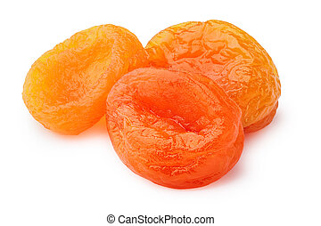 Dried apricots (kuraga) isolated