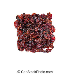 Dried barberry berries isolated on white background