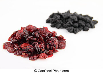 blueberries and cranberries - Dried blueberries and...