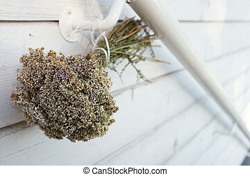 dried bouquet of wild flowers