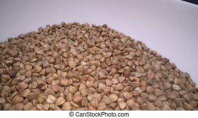 Dried buckwheat seeds. Gluten free ancient grain for healthy...