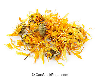 Dried calendula herb flowers - Calendula or pot marigold...