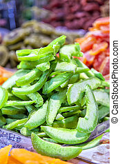 Dried candied fruit