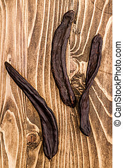 Dried Carob Pods, Ceratonia Siliqua - Group of dried carob...