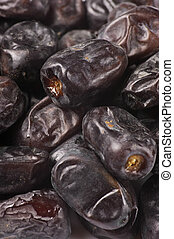 Dried dates close-up
