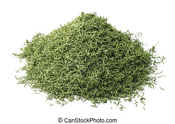 Dried dill - Pile of dried dill isolated on white