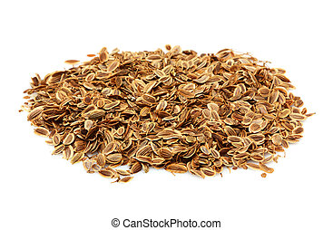 Dried fennel seeds.