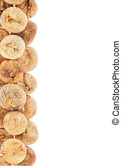 Dried figs, isolated on white background
