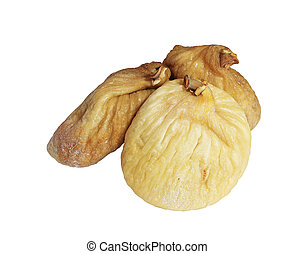 Dried figs on white background, isolated