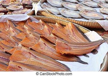 Dried fish at the market