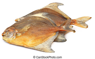 Dried fish Rup chanda over white background