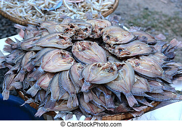 Dried fishs of local food