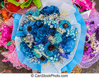 Dried flowers bouquet.
