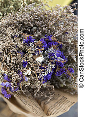 Dried flowers bouquet decoration