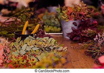 dried flowers decoration