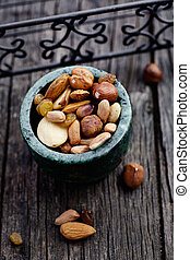 Dried fruit and nuts - Healthy eating. Dried fruit and nuts...