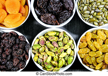 Dried Fruit and Nuts Selection
