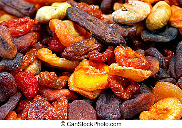 Dried fruit - Bunch of colorful various mixed dried fruit
