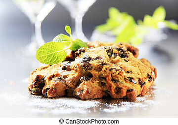 Dried fruit cookies - Close up of homemade dried fruit...