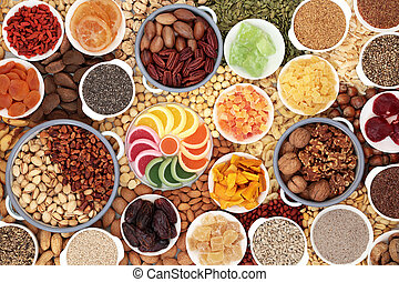Dried Fruit Nuts and Seeds Composition