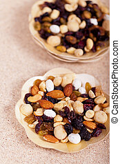 Dried fruit, nuts and seeds