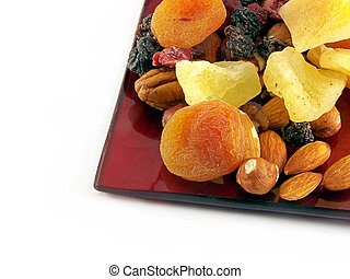 Dried fruit on plate