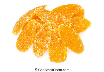 dried fruit on white background
