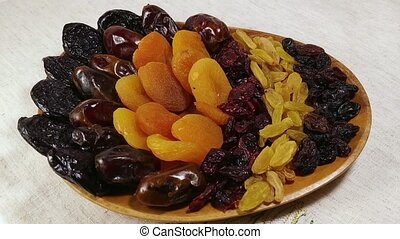 Dried fruits apricot, raisins, dates, cranberry 3 - Dried...