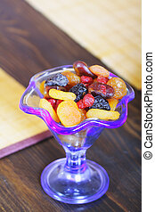 Dried fruits in bowl