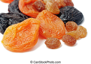 Dried fruits (Isolated)