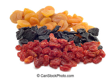 object on white food dried fruits